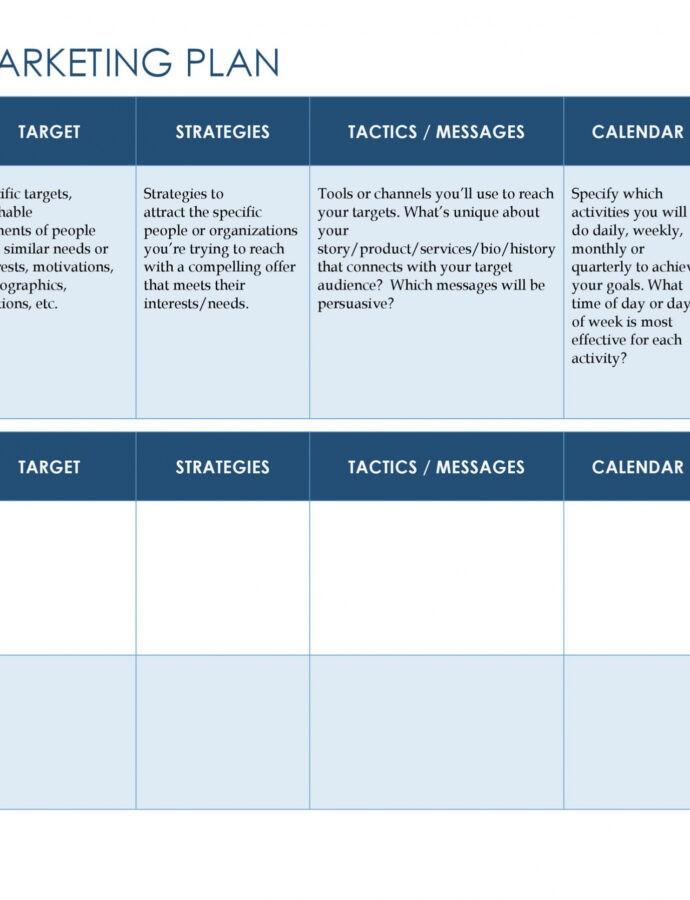 Best Sales Plan Outline Template Excel