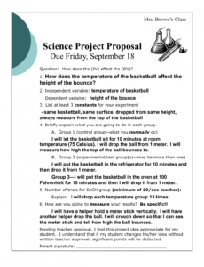 best science project outline template excel example