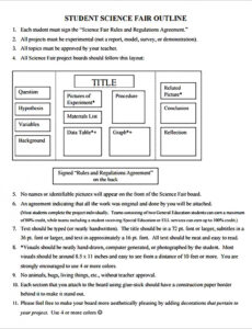 editable science project outline template excel sample