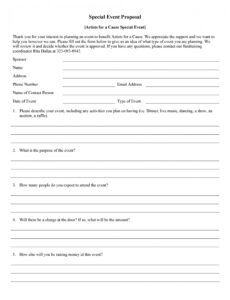event planning outline template doc example
