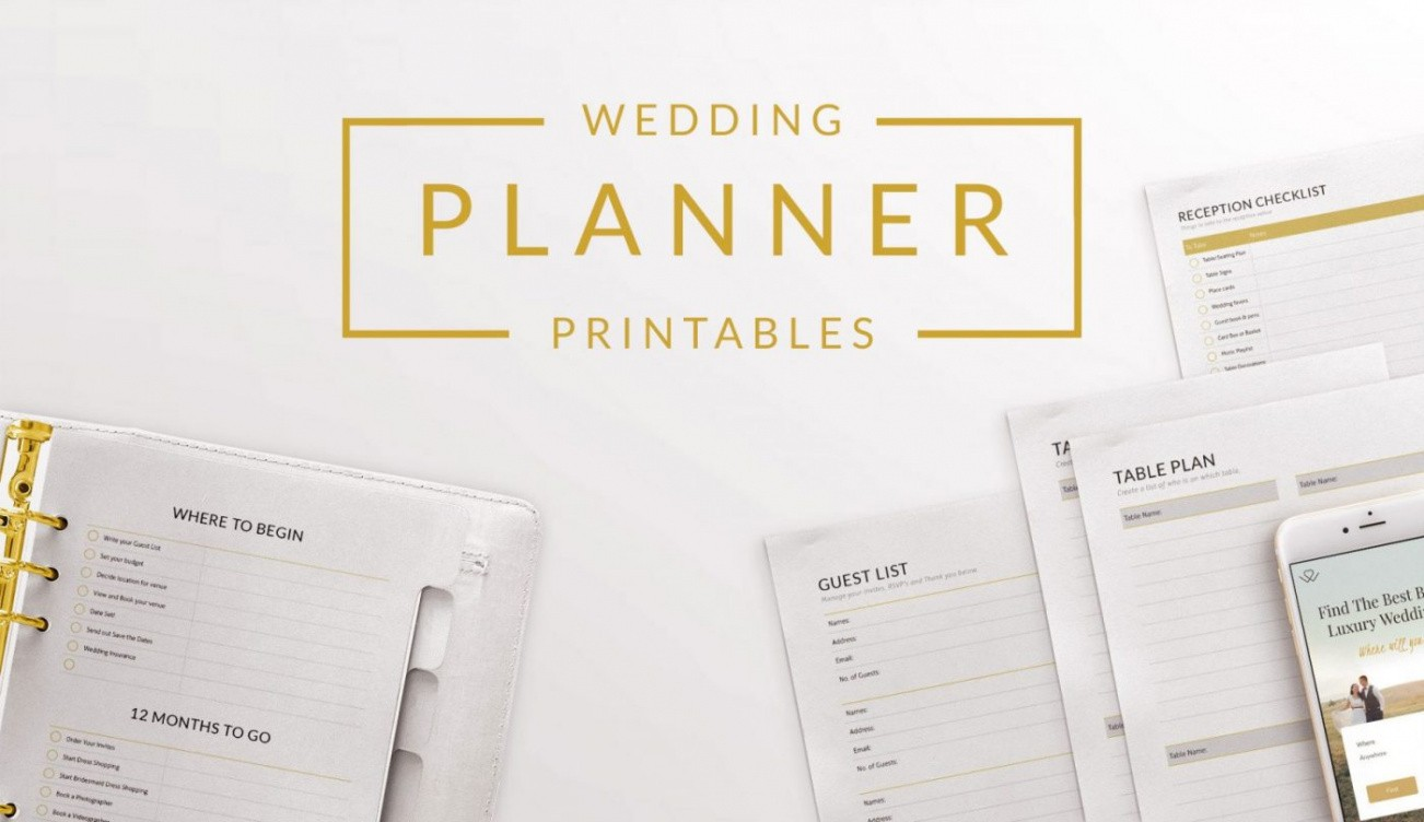 free wedding planning outline template  example
