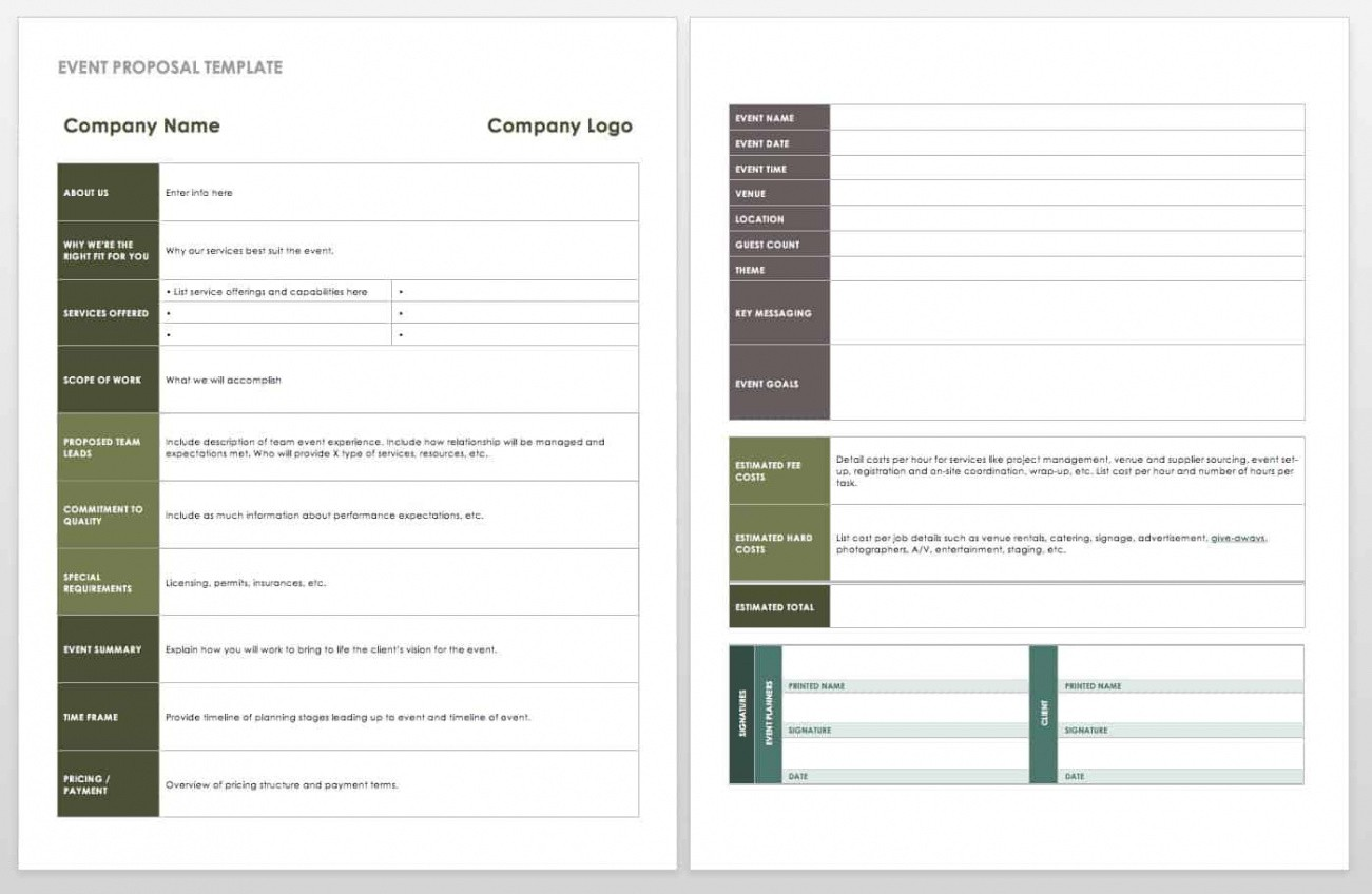 printable event planning outline template