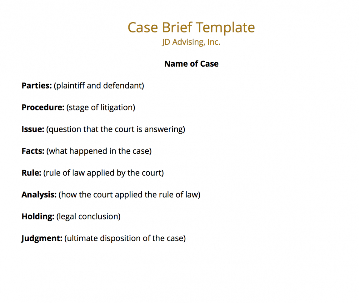 printable law school outline template pdf