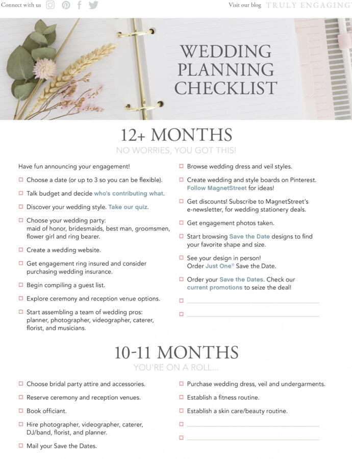 Printable Wedding Planning Outline Template Word Example