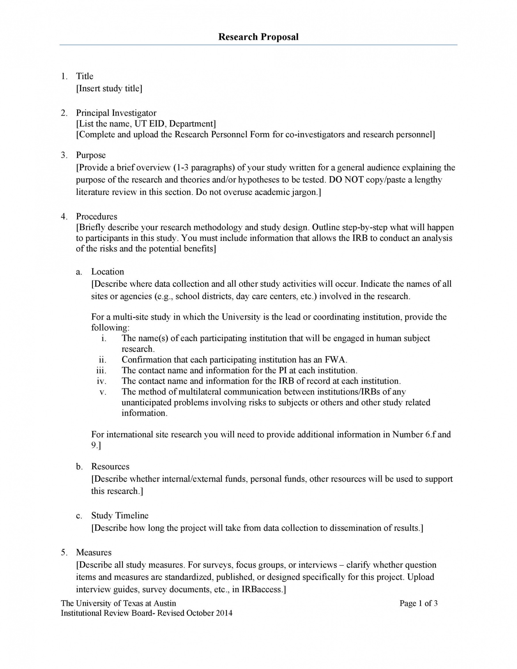 professional science project outline template pdf example