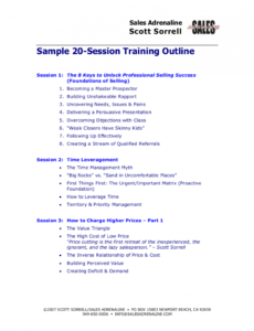 best customer service training outline template  sample