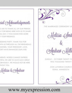 best wedding program outline template  example