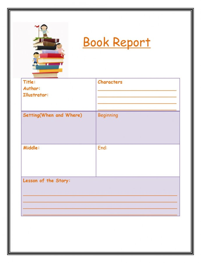 Costum Book Report Outline Template