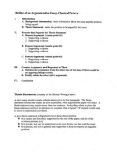 free argumentative essay outline template excel example