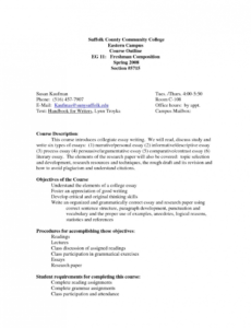 free college essay outline template