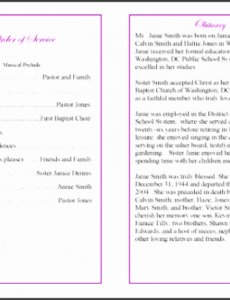 free funeral service outline template excel example