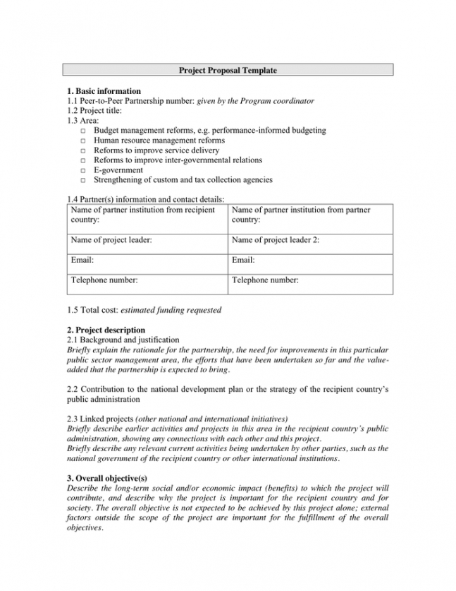 editable project proposal outline template excel sample