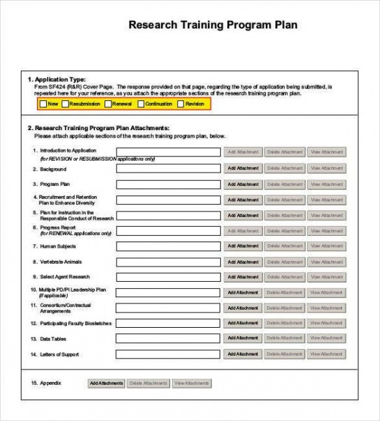 free training plan outline template word sample