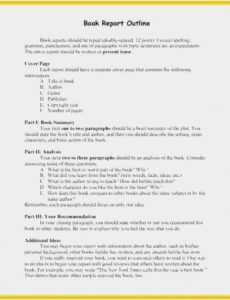 printable non fiction book outline template pdf example