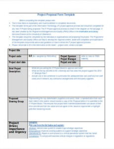 professional project proposal outline template doc example