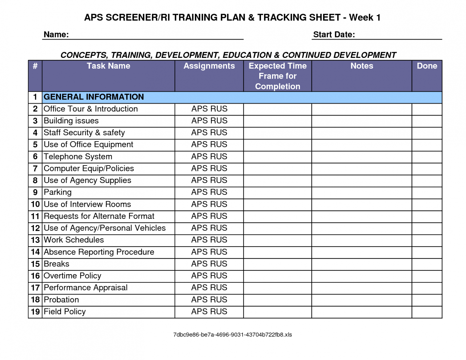 professional training plan outline template doc sample