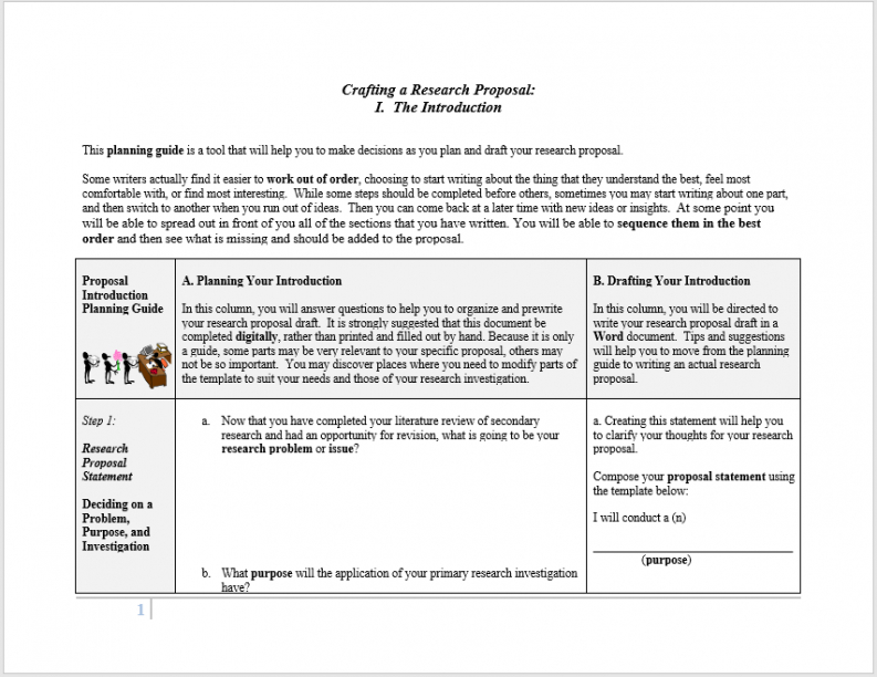 research proposal outline template word example