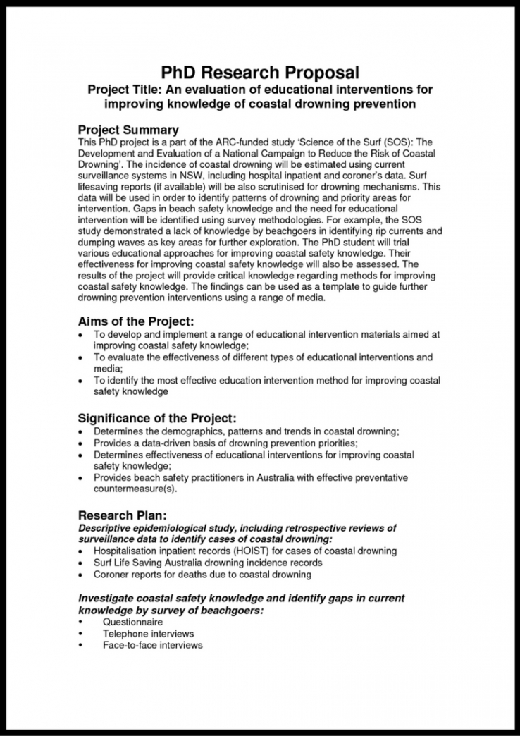 research proposal outline template