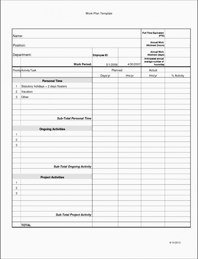 Training Plan Outline Template PDF Sample