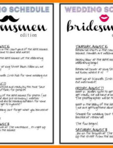 Free Day Of Wedding Timeline Template Doc Sample