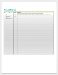romance novel plot outline template excel example