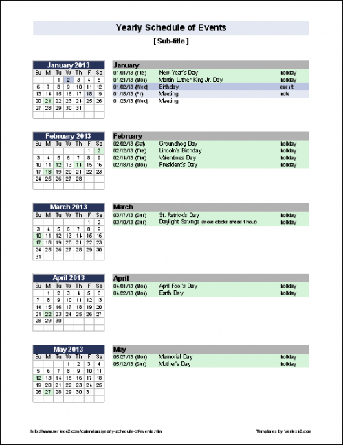 Best Event Schedule Timeline Template Excel Example
