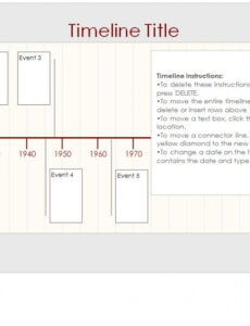 Costum Life Event Timeline Template Doc Example