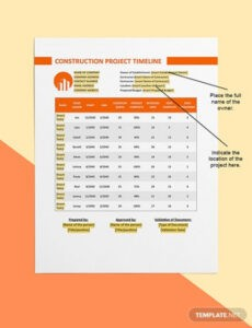 Free Construction Project Timeline Template Pdf