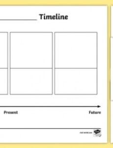 Printable Family Timeline Template For Kids  Sample