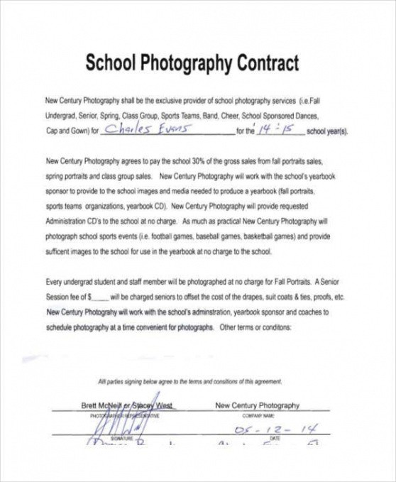 Free After School Program Contract Template  Example