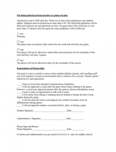 Free After School Program Contract Template  Sample