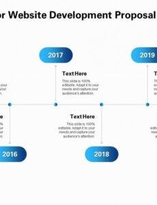 Free Website Design Timeline Template Word