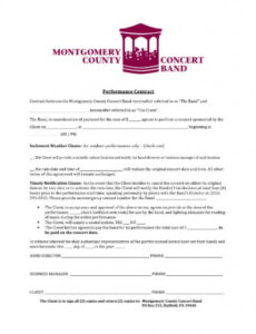 Musicians Contract Template Doc