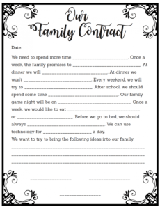 Printable After School Program Contract Template Excel