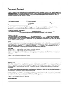 Printable Damage Contract Template Word Example