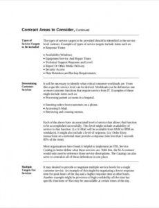 Best Website Service Contract Template Doc