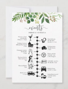 Best Wedding Timeline Template For Guests Word