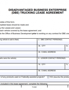 Costum Truck Driver Contract Agreement Template Doc Sample