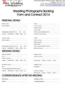 Editable Bridal Contract Template For Makeup Pdf