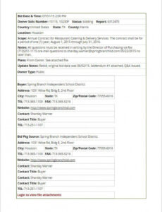 Editable Food Service Contract Template Excel Example