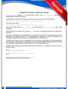 Fabrication Contract Template Excel Sample