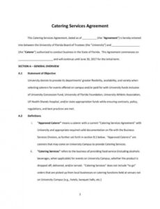 Food Service Contract Template