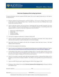 Free Borrow Money Contract Template Excel Sample