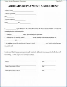 Free Loan Repayment Contract Template Pdf