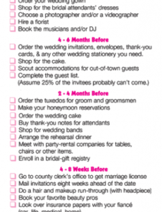 Free Rehearsal Dinner Timeline Template Doc Example