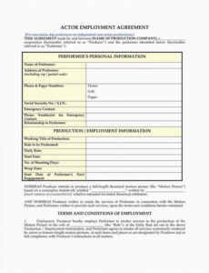 Free Teacher Employment Contract Template Pdf Example