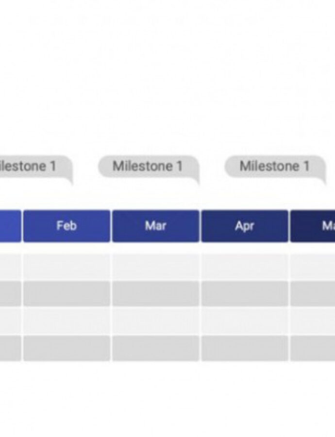 Printable Monthly Timeline Powerpoint Template