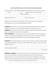 Printable Real Estate Sales Contract Template Virginia Pdf Example