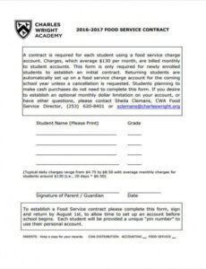 Professional Food Service Contract Template Doc