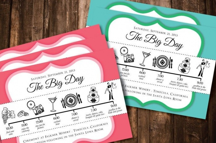 Wedding Timeline Template For Guests  Example